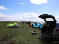Wolin kitesurfing
